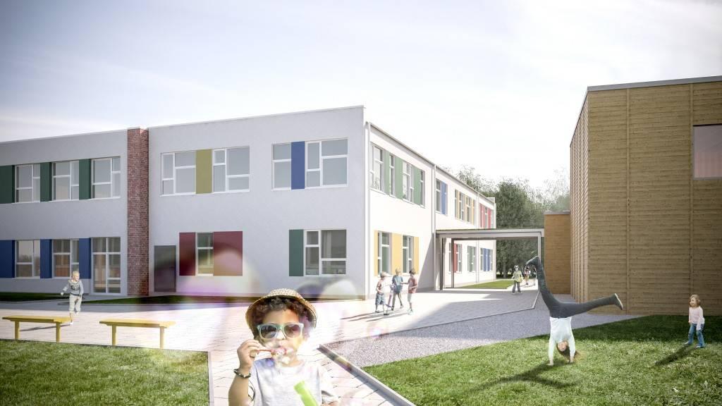 Schulgebäude Mittlerer Landweg